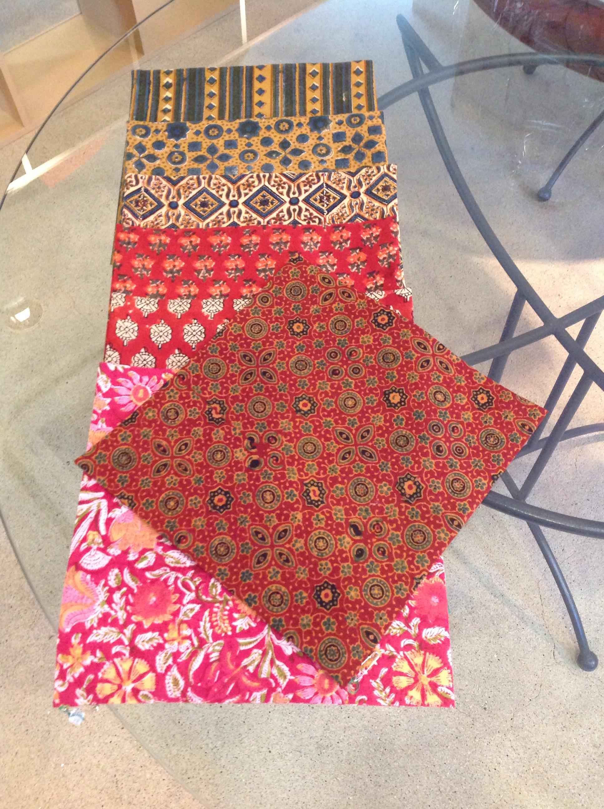 綿更紗の袱紗